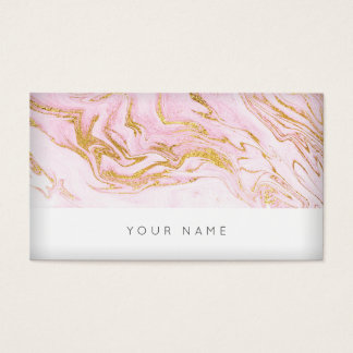 Pink Gold White Marble Vip Business Card