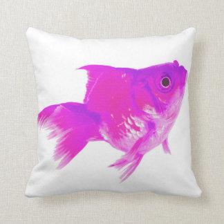 Pink goldfish cushion