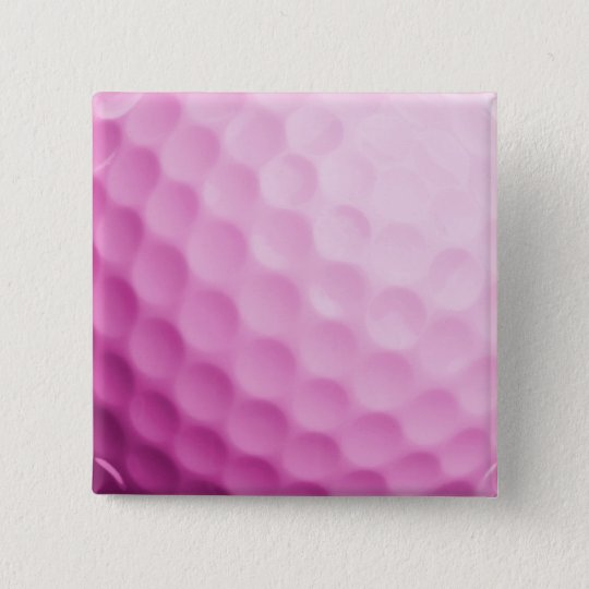Pink Golf Ball Background Customised Template 15 Cm Square Badge