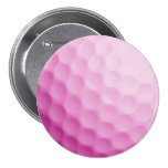 Pink Golf Ball Background Customised Template Badges