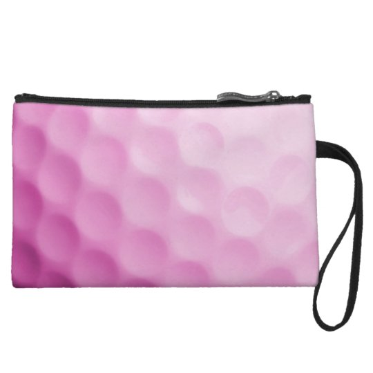 Pink Golf Ball Background Customised Template Wristlet