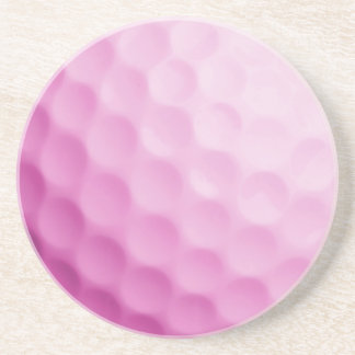 Pink Golf Ball Background Customized Template Coaster