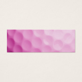Pink Golf Ball Background Customized Template Mini Business Card