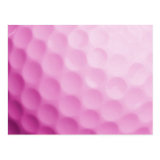 Pink Golf Ball Background Customized Template Postcard