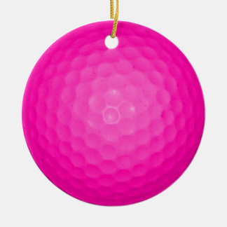 Pink Golf Ball Christmas Ornament