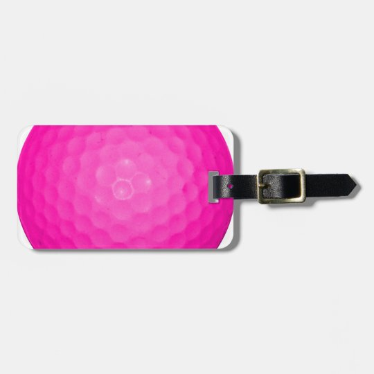 Pink Golf Ball Luggage Tag