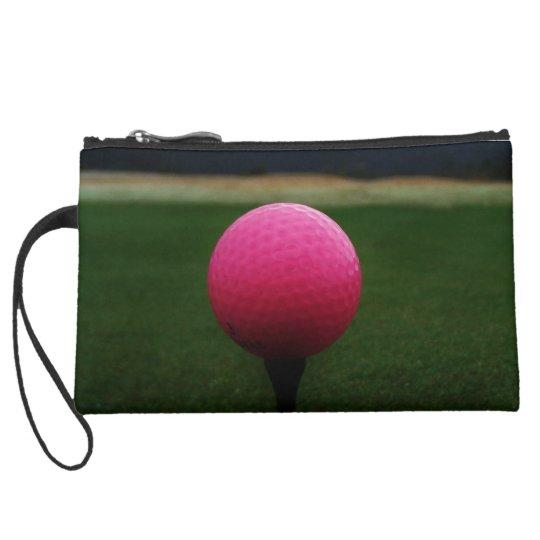 Pink Golf Ball on a mountain golf course