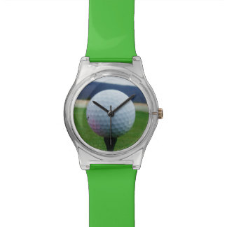 Pink Golf Ball on a mountain golf course Wrist Watches