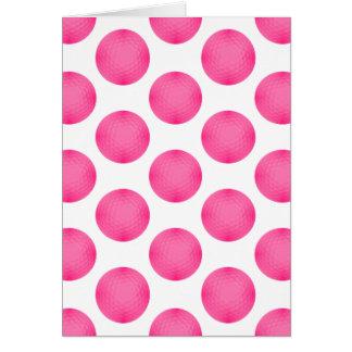 Pink Golf Ball Pattern Card