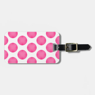 Pink Golf Ball Pattern Luggage Tag