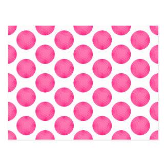 Pink Golf Ball Pattern Post Card