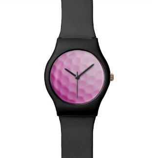 Pink Golf Ball Template Background Sports Texture Wrist Watch