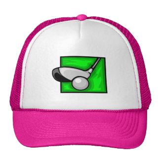 Pink Golf Cap