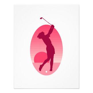 Pink Golf Logo Custom Invitations