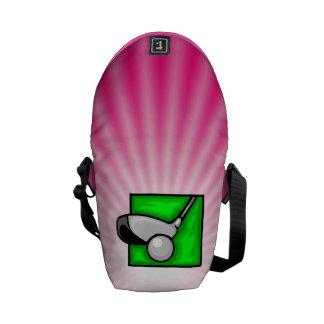 Pink Golf Messenger Bags