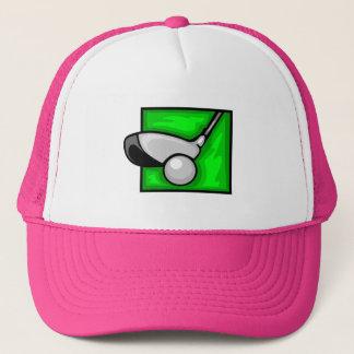Pink Golf Trucker Hat