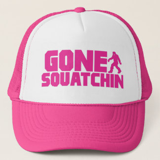 PINK GONE SQUATCHIN Trucker Hat *BEST VERSION*