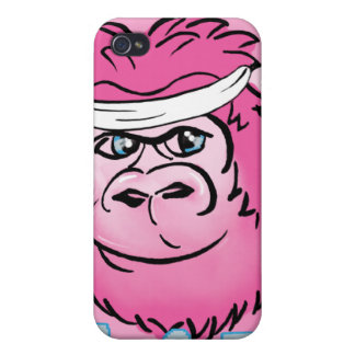 Pink Gorilla with Sweatband iPhone 4/4S Cover