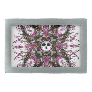Pink Gothic Skull Belt Buckle