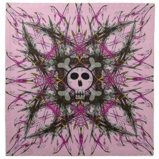Pink Gothic Skull Napkin