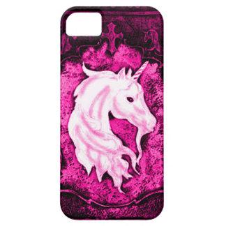 Pink Gothic Unicorn iPhone 5 Case