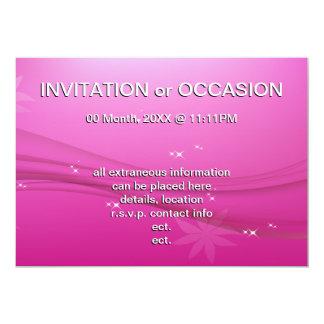 pink grace 13 cm x 18 cm invitation card