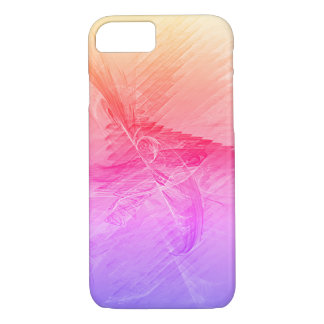 Pink Gradient Abstract Fractal iPhone 8/7 Case