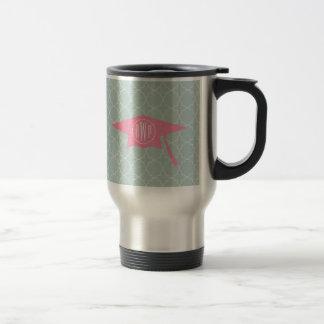 Pink Graduation Cap Monogram Mug