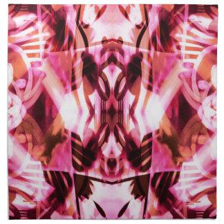 Pink graffiti pattern napkin