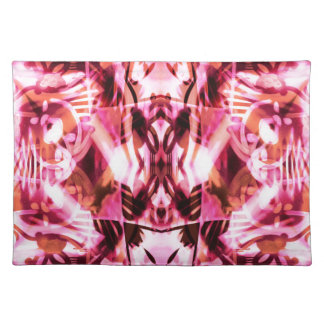 Pink graffiti pattern placemat