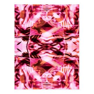 Pink graffiti pattern postcard