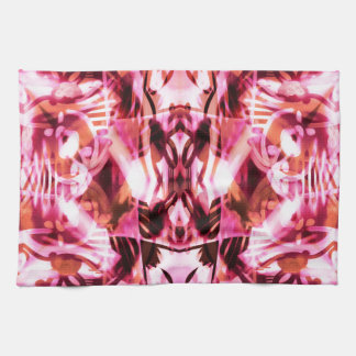 Pink graffiti pattern tea towel