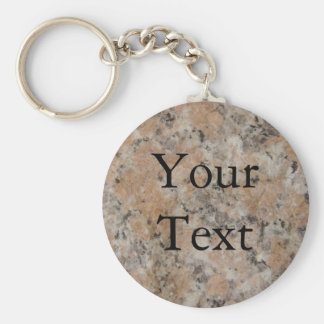 Pink Granite Key Ring