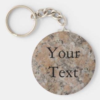 Pink Granite Key Ring