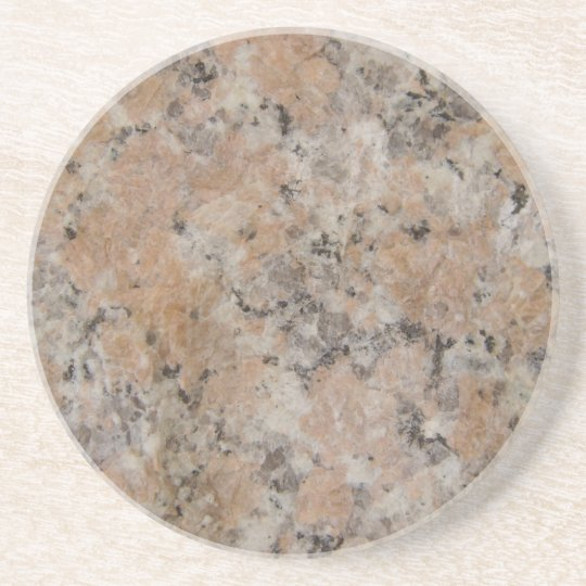 Pink Granite Look Drink Coaster