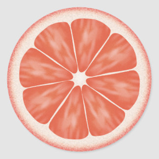 Pink Grapefruit Citrus Fruit Classic Round Sticker