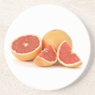 Pink Grapefruit Beverage Coaster