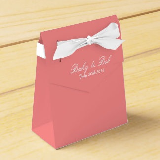 Pink Grapefruit Colored Wedding Favour Box