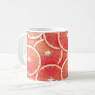 Pink grapefruit slices coffee mug