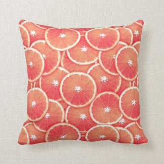 Pink grapefruit slices cushion