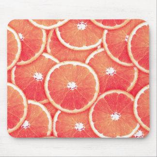 Pink grapefruit slices mousepad