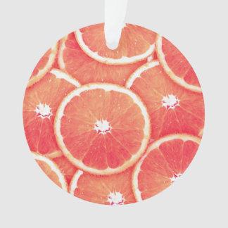 Pink grapefruit slices ornament