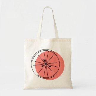 Pink Grapefruit tote bag
