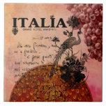 Pink Grapes Italia Large Square Tile
