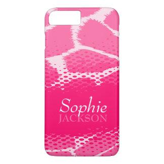 Pink graphic animal print iphone tough case
