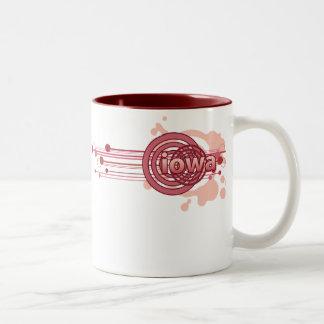 Pink Graphic Circle Iowa Mug
