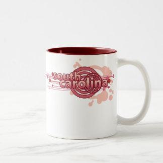 Pink Graphic Circle South Carolina Mug