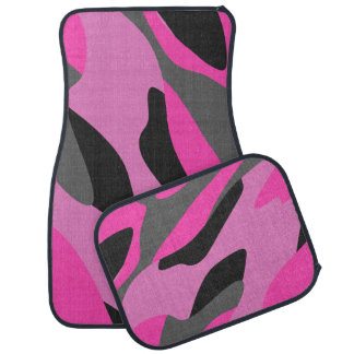 pink gray and black camo abstract 2 floor mat