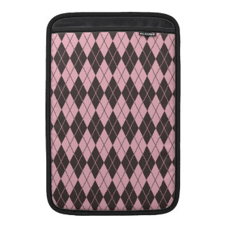 Pink & Gray Argyle Sleeve For MacBook Air