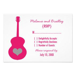 Pink/Gray Guitar Heart Response Card